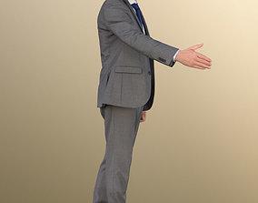 3D model 11320 Jason - Elderly business man grey suit