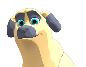 3D model rigged Dog cartoon