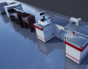 Supermarket Store Shelves 3D model