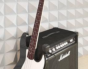 3D Guitar Fender Squier