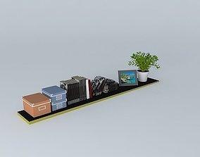 Shelf with stuffs 3D model