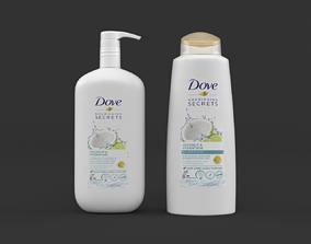 Dove Shampoo and Conditioner 3D model