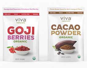 Viva Naturals Organic Cacao Powder 3D model
