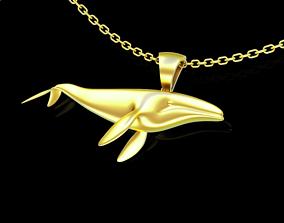 3D print model Big Whale Pendant jewelry Gold