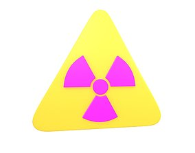 3D asset Radiation Symbol v2 003
