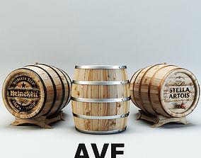 3D Beer cellar barrels