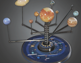 Planet School Toy - CLA - PBR Game Ready 3D asset