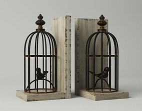 Birdcage Bookend 3D model