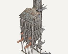 3D Old coal wooden tipple
