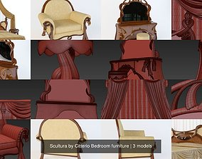 Scultura by Citterio Bedroom furniture 3D