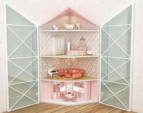 3D model corner dollhouse