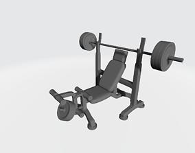 Sit-up press trainer 3D print model