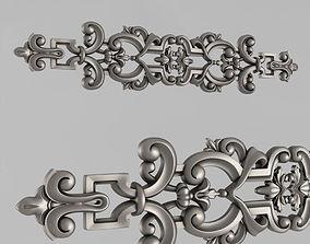 Horizontal decor pediment wall 3D print model