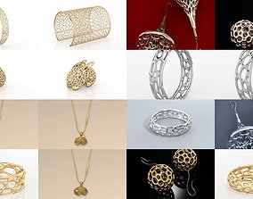Fashion Voronoi Jewelry Collection 3D