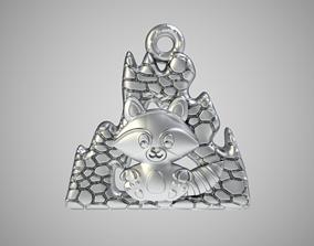 Raccoon Necklace raccoon 3D printable model