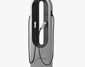 3D Electric Vehicle Charging Station