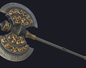3D asset Fantasy two-handed axe 2 PBR
