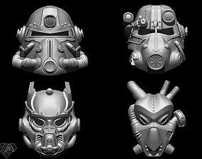 Fallout Helmets set 3D print model