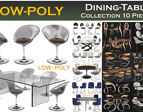 3D asset Dining-Table Collection 10 Pieces