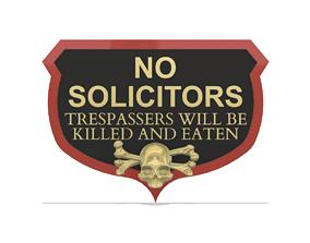 3D print model No Trespassers door crest