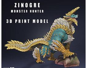 Zinogre - Jinouga - Monster Hunter - 3D Fan Art -