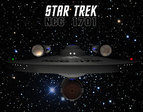 NCC1701 with the windows cut out 3D model
