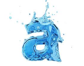 water Liquid letter a 3D model
