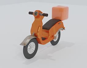 3D asset Delivary Bike Vespa - Motorbike LowPoly