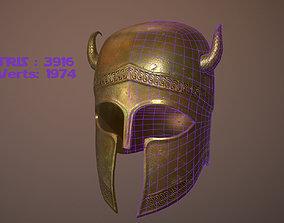 3D model VR / AR ready Ancient Helmet