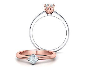Classic Solitaire Ring Four-Prong Setting 4mm Stone