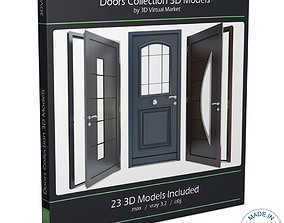 Modern Doors Collection 3D