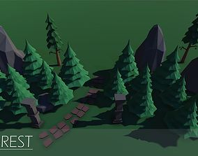 3D asset Lost Forest - Low poly pack
