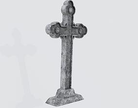 Graveyard Cross 3D