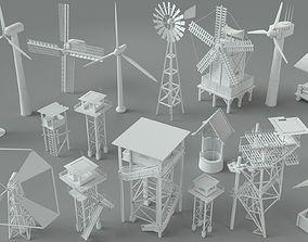3D model Environment Units-part-1 - 19 pieces well