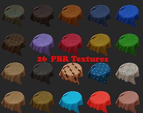 3D asset VR / AR ready 26 PBR Fabric textures