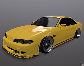 low-poly Nissan Silvia S14 326 Power 3D-Star bodykit