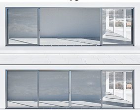 Aluminium sliding door 3D