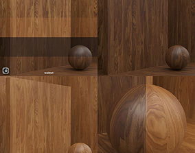 3D model Wood material veneer slab seamless