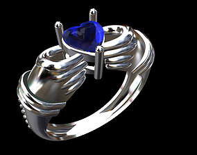 3D printable model Anel 0002 Hand Heart 3dm
