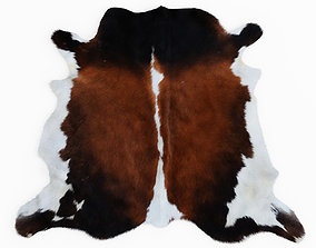 3D model Cowhide Brown And White Rug