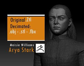 Maisie Williams - Arya Stark - Game Of 3D print model