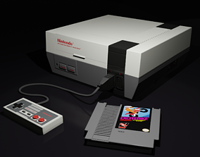 3D model NES Nintendo Entertainment System
