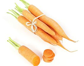 3D model Bundle Of Carrots