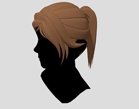 hair Female Hair Ponytail v2 3D