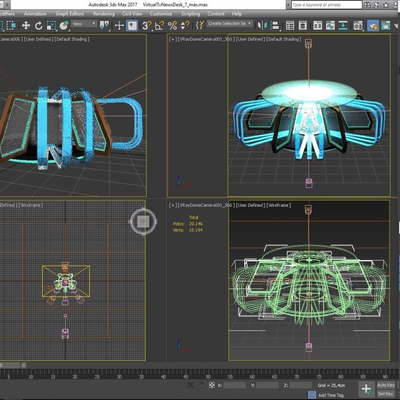 3D TV Studio News Desk 7