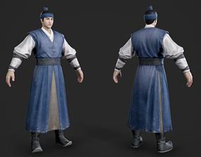 3D model Ancient Korean Korean traditional costume Korean