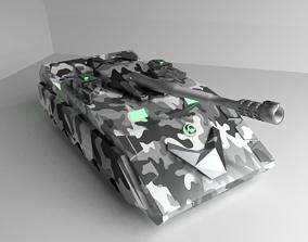 Tank future sci-fi 3D