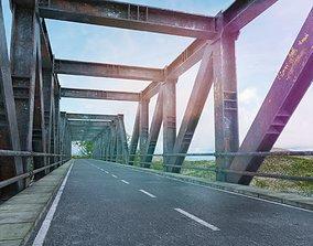REALISTIC IRON STEEL BRIDGE 3D asset