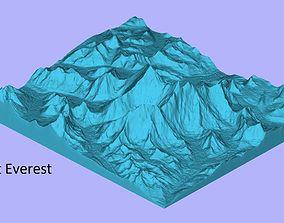 Mount Everest 3D Model for CNC and 3D Printer