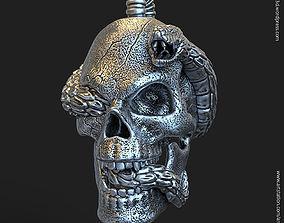 Biker snake skull vol11 Pendant 3D print model
